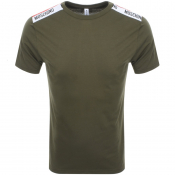 Moschino Logo T Shirt Green
