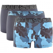 Product Image for Diesel Underwear Damien 3 Pack Boxer Shorts Blue