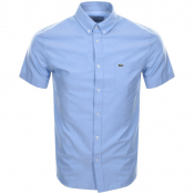 Product Image for Lacoste Short Sleeved Oxford Shirt Blue