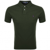 Product Image for Ralph Lauren Slim Fit Polo T Shirt Green