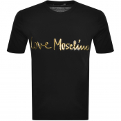 Love Moschino Logo T Shirt Black