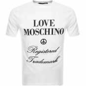 Love Moschino Logo T Shirt White