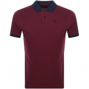 Barbour Short Sleeved Sports Polo T Shirt Red