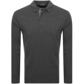 Barbour Sports Long Sleeve Polo T Shirt Grey