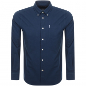 Barbour Long Sleeved Oxford 1 Shirt Navy