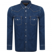Diesel Long Sleeved D East Denim Shirt Blue