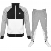 Nike Standard Fit Fleece Tracksuit Grey