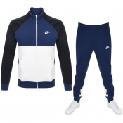 Nike Standard Fit Fleece Tracksuit Navy