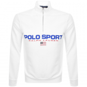 Product Image for Ralph Lauren Half Zip Logo Sweatshirt White