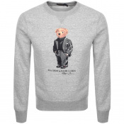 Product Image for Ralph Lauren Crew Neck Bear Sweatshirt Grey