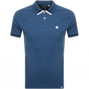 Product Image for Pretty Green Banker Tipped Polo T Shirt Blue