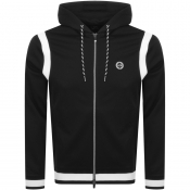 Armani Exchange Logo Full Zip Hoodie Black