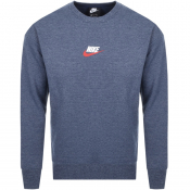 Product Image for Nike Crew Neck Heritage Sweatshirt Navy