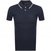 Armani Exchange Tipped Polo T Shirt Navy