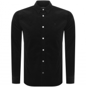 Les Deux Long Sleeve Felix Corduroy Shirt Black