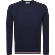 Product Image for Les Deux Embossed Crew Neck Sweatshirt Navy