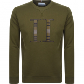 Product Image for Les Deux Encore Check Crew Neck Sweatshirt Green