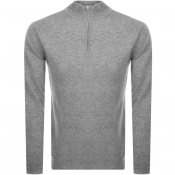 Product Image for Les Deux Casherino Zip Knit Sweatshirt Grey