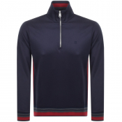 Product Image for Les Deux Couterly Track Top Sweatshirt Navy