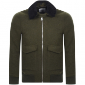 Product Image for Les Deux Planchett Bomber Jacket Green