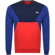 Lacoste Sport Crew Neck Sweatshirt Red