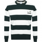 Product Image for Lacoste Live Crew Neck Stripe Sweatshirt Green