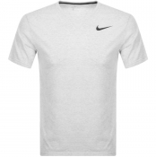 Nike Training Crew Neck Breathe T Shirt White