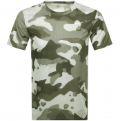 Nike Training Crew Neck Camo T Shirt Green