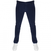 BOSS Casual Corduroy Schino Slim D Chinos Navy