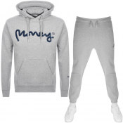 Money Sig Ape Hooded Tracksuit Grey