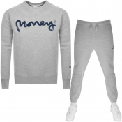 Product Image for Money Sig Ape Crew Neck Tracksuit Grey