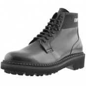 Emporio Armani Leather Boots Black