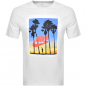 Nike Air 4 Palm Tree Logo T Shirt White