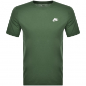 Nike Crew Neck Club T Shirt Green