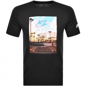 Nike Air Court 1 Logo T Shirt Black