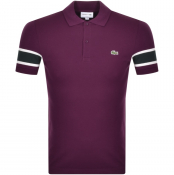 Lacoste Short Sleeved Polo T Shirt Purple
