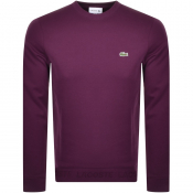 Lacoste Logo Sweatshirt Purple