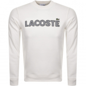 Lacoste Crew Neck Logo Jumper White