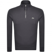 Product Image for Lacoste Half Zip Sweatshirt Grey