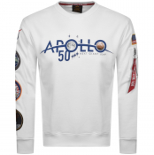 Product Image for Alpha Industries Apollo 50 Patch Sweatshirt White