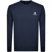 Product Image for Converse Star Chevron Logo Sweatshirt Navy