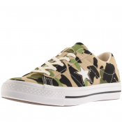 Product Image for Converse One Star Camouflage Trainers Khaki