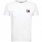 Tommy Jeans Badge Logo T Shirt White