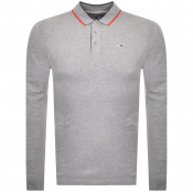 Product Image for Tommy Jeans Slim Long Sleeve Polo T Shirt Grey