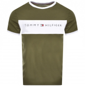 Tommy Hilfiger Logo Flag T Shirt Green