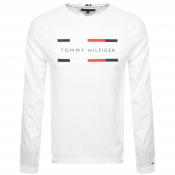Tommy Hilfiger Long Sleeved Logo T Shirt White