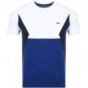 Lacoste Sport Colour Block T Shirt White