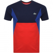 Product Image for Lacoste Sport Colour Block T Shirt Navy