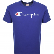 Product Image for Champion Crew Neck Logo T Shirt Purple