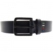 PS By Paul Smith Leather Belt Navy